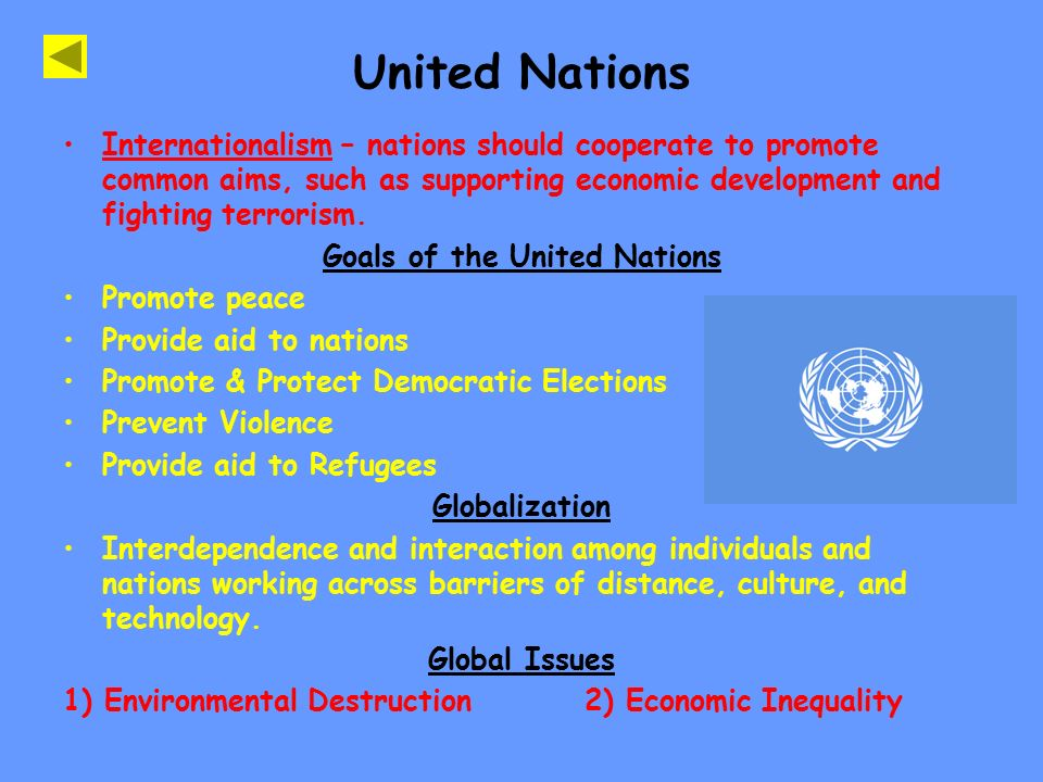 Goals of the United Nations