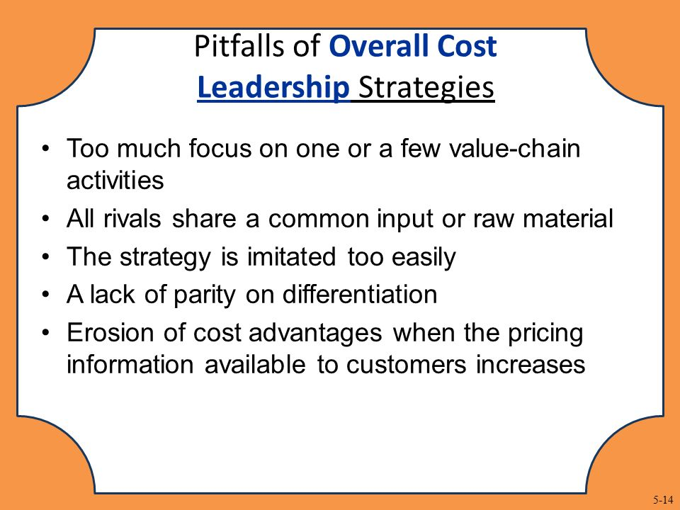 ford cost leadership strategy
