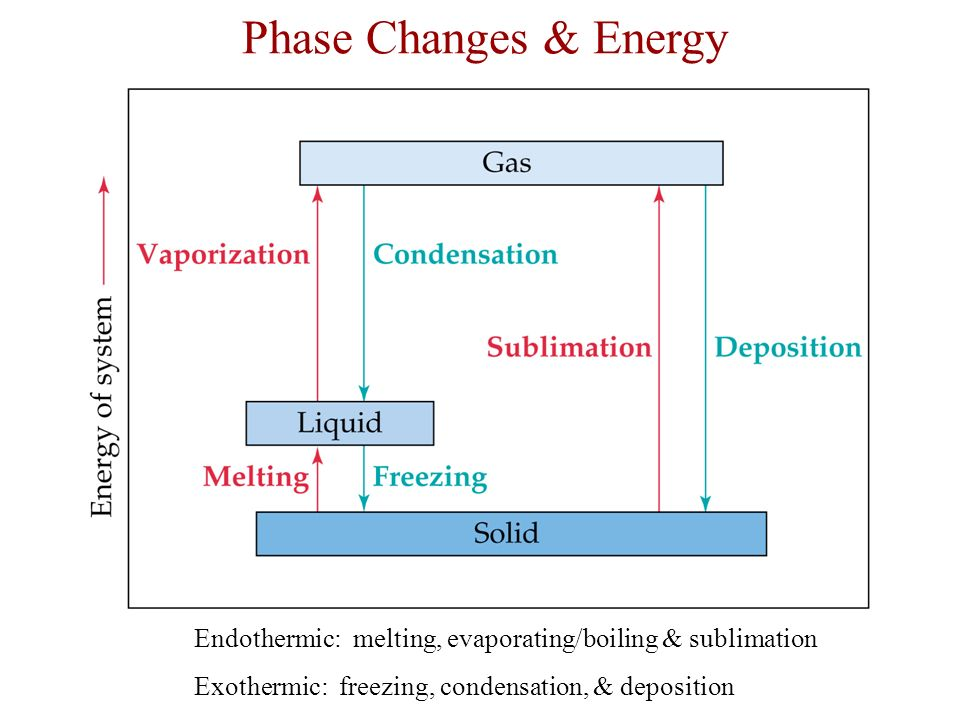Exothermic Phase Change Diagram Auto Electrical Wiring Diagram