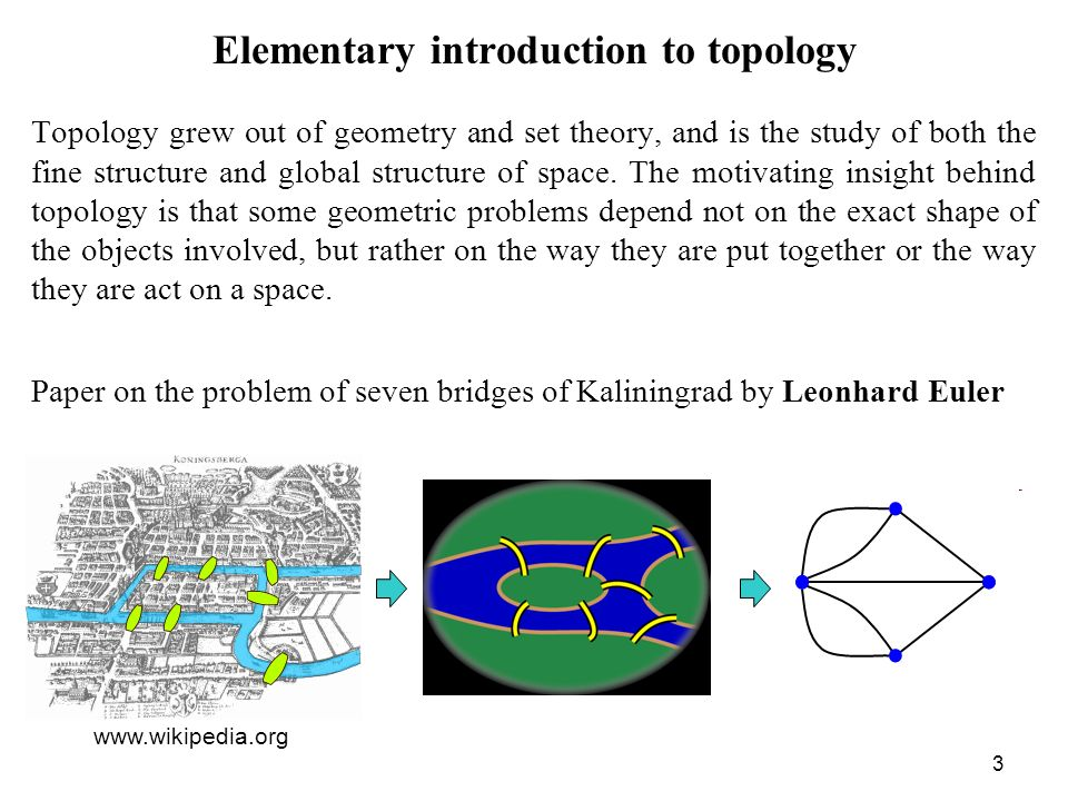 Elementary introduction to topology
