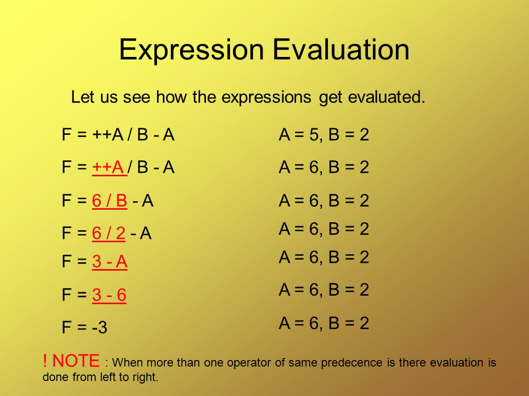Expression Evaluation