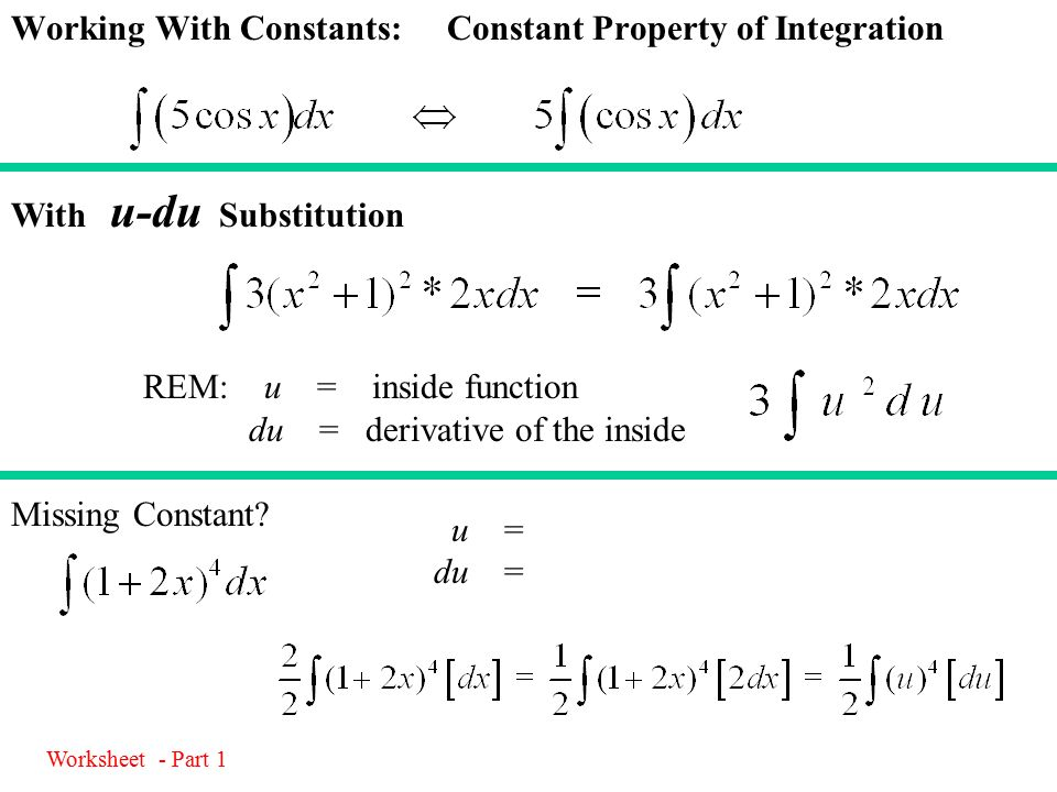 4029 U Du Integrating Composite Functions Ppt Download