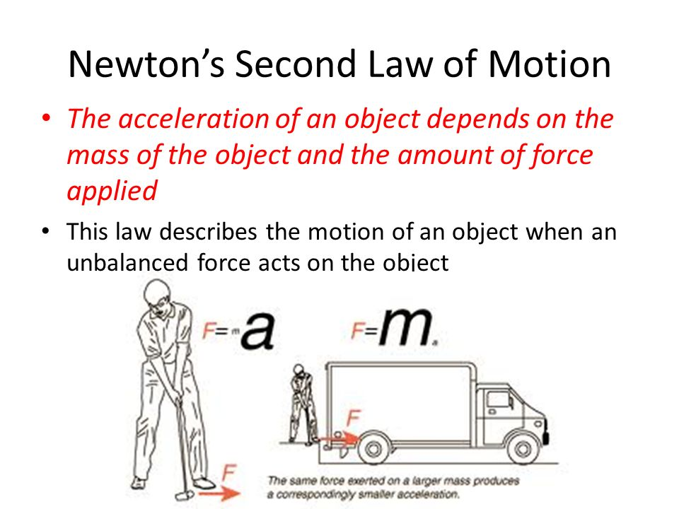 Image result for Newtons second law of motion