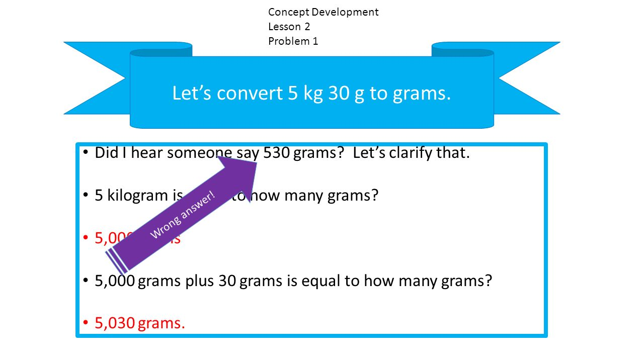 Let S Convert 5 Kg 30 G To Grams