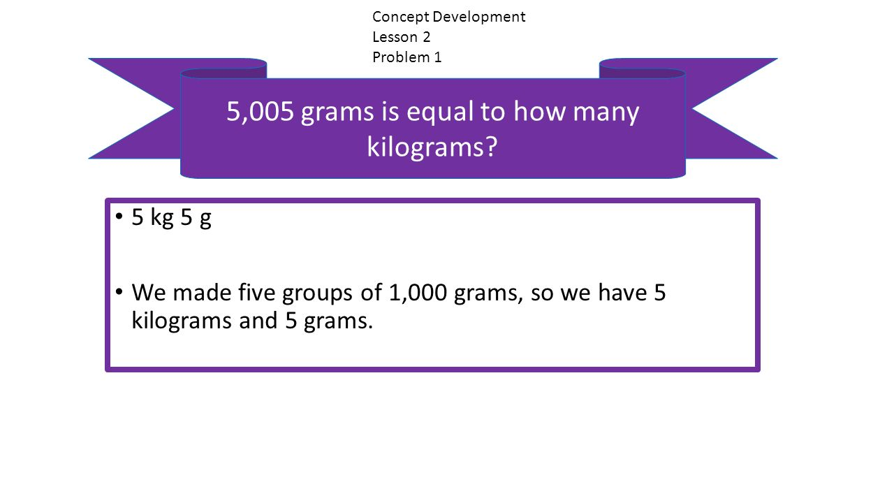 5 005 Grams Is Equal To How Many Kilograms