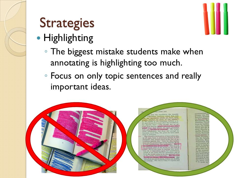 Strategies Highlighting