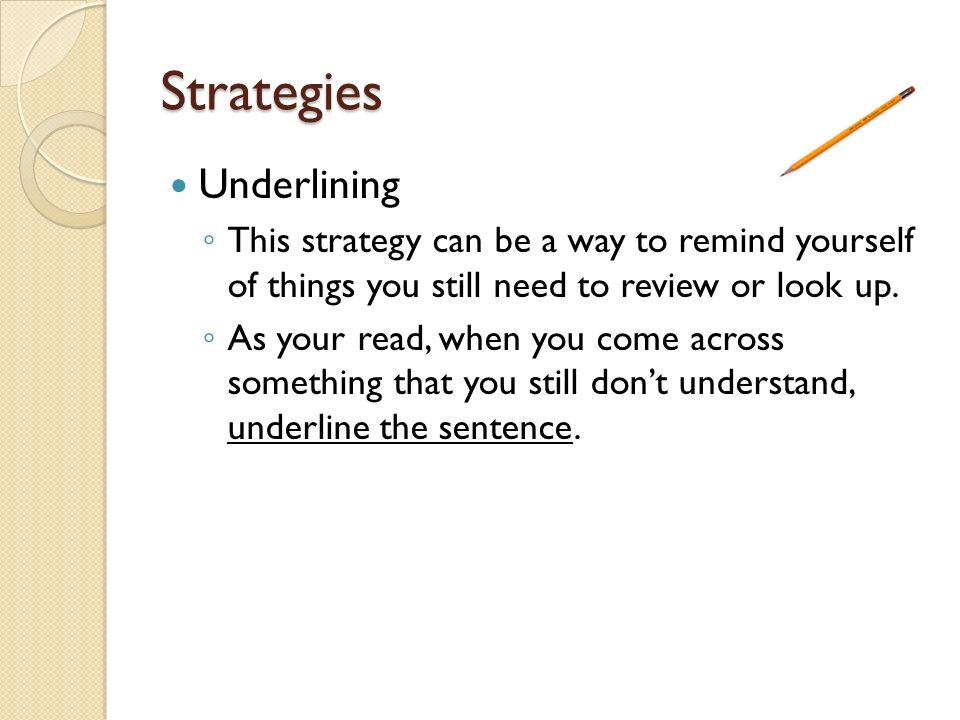 Strategies Underlining