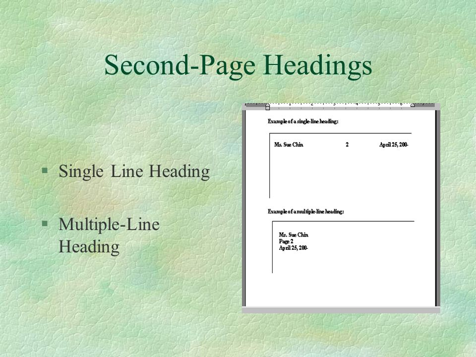 Guidelines for business letters ppt video online download business letter special parts 6 second page headings single line heading multiple line heading spiritdancerdesigns Images