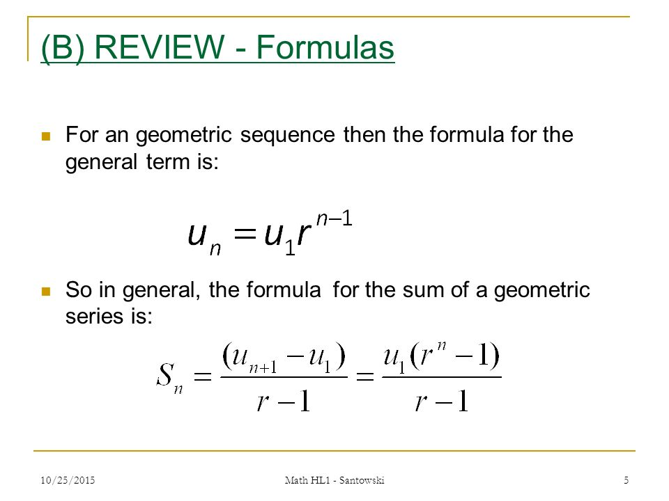 Lesson 4 - Summation Notation & Infinite Geometric Series