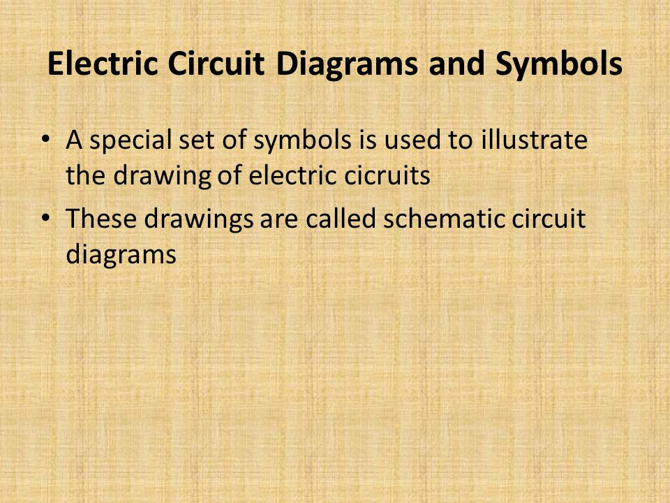 Electric Circuit Diagrams and Symbols