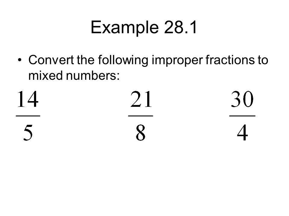 Improper Fractions, Mixed Numbers, and Decimal Numbers - ppt video ...