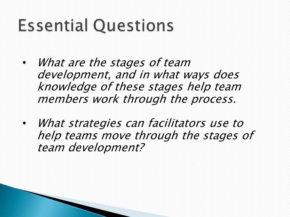various stages of group development