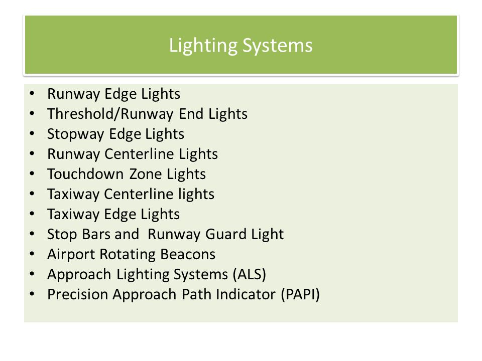 Airport Lighting, Markings and Sign Systems - ppt video online download