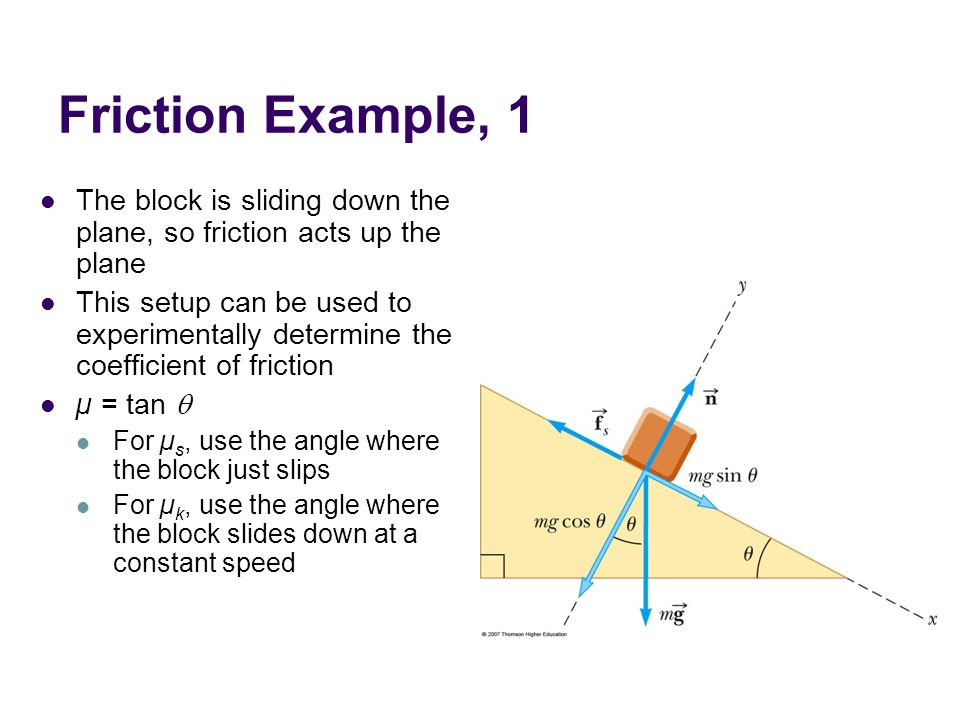 Forces of Friction When an object is in motion on a surface