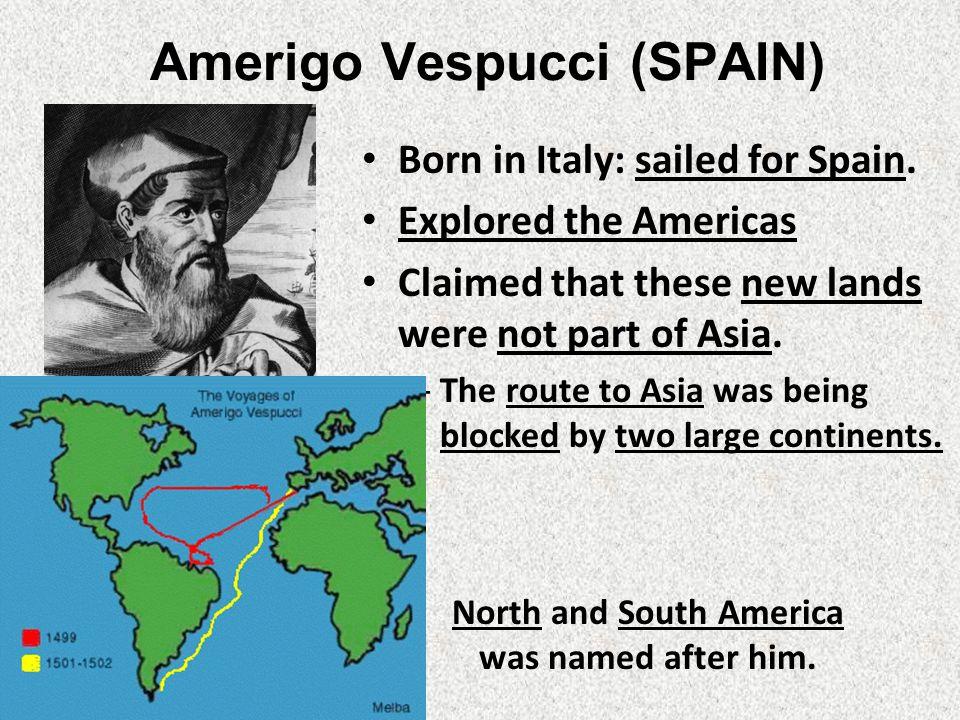where did amerigo vespucci land