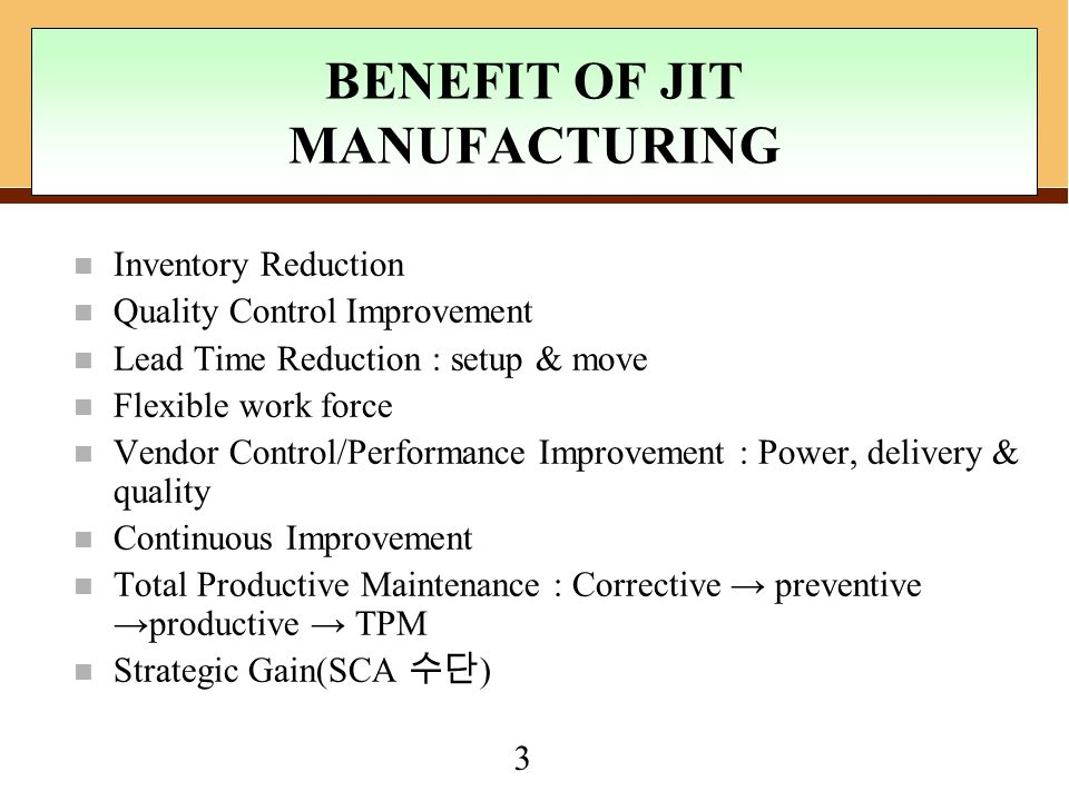 Chapter 9 Just In Time Operations Management Ppt Video