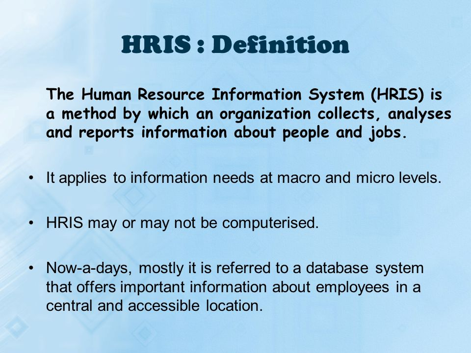 how to learn hris systems