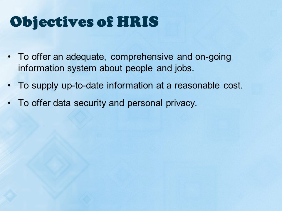 Human Resources Information System (HRIS) - ppt video online download