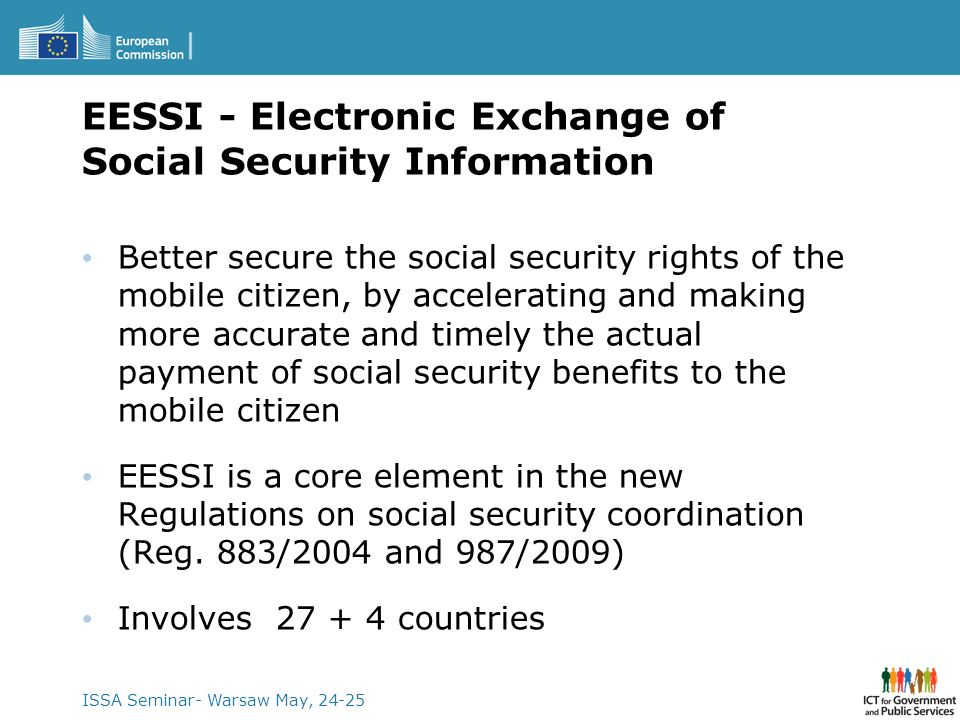 EESSI - Electronic Exchange of Social Security Information