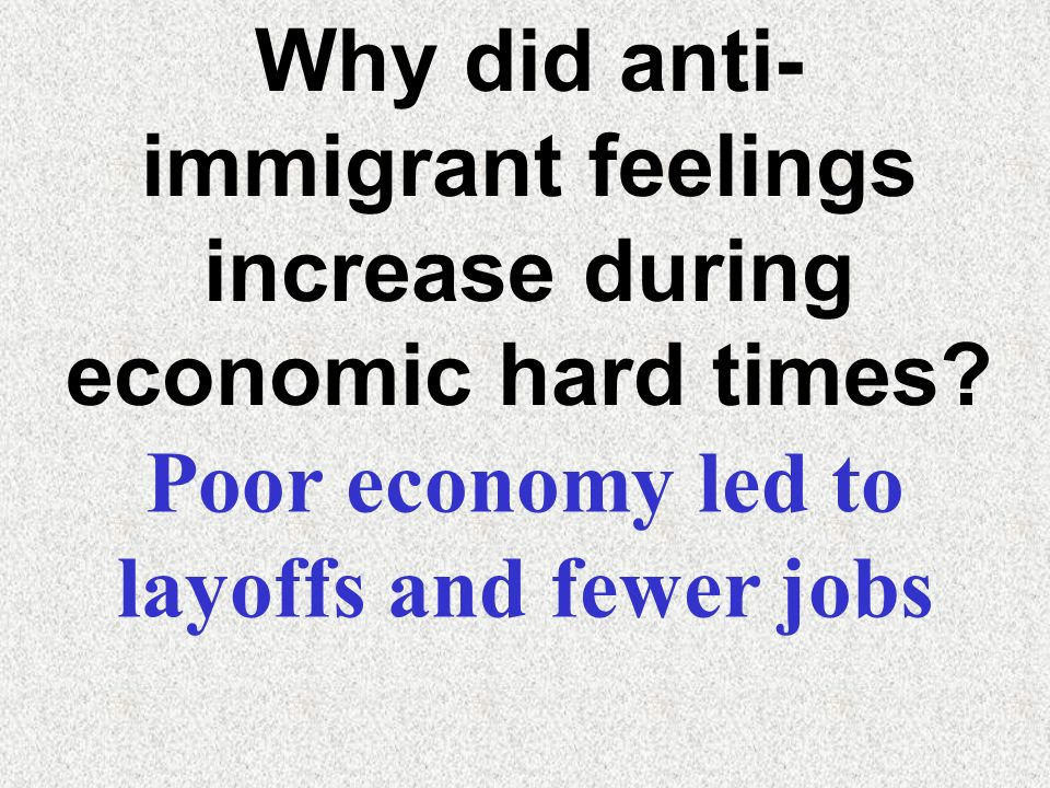 Poor economy led to layoffs and fewer jobs