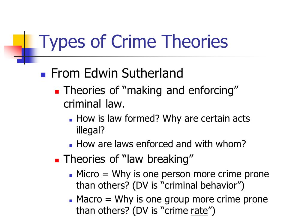 Types Of Crime Theories