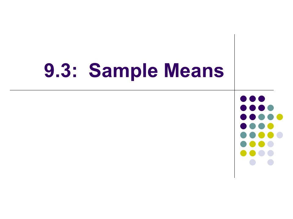 9.3: Sample Means