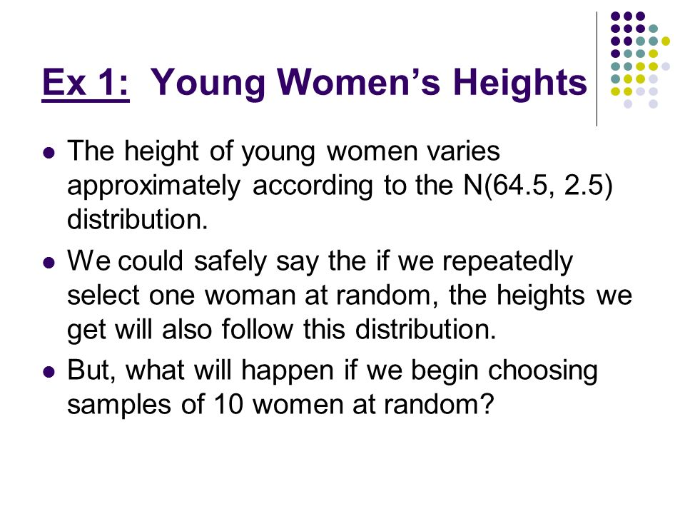 Ex 1: Young Women's Heights