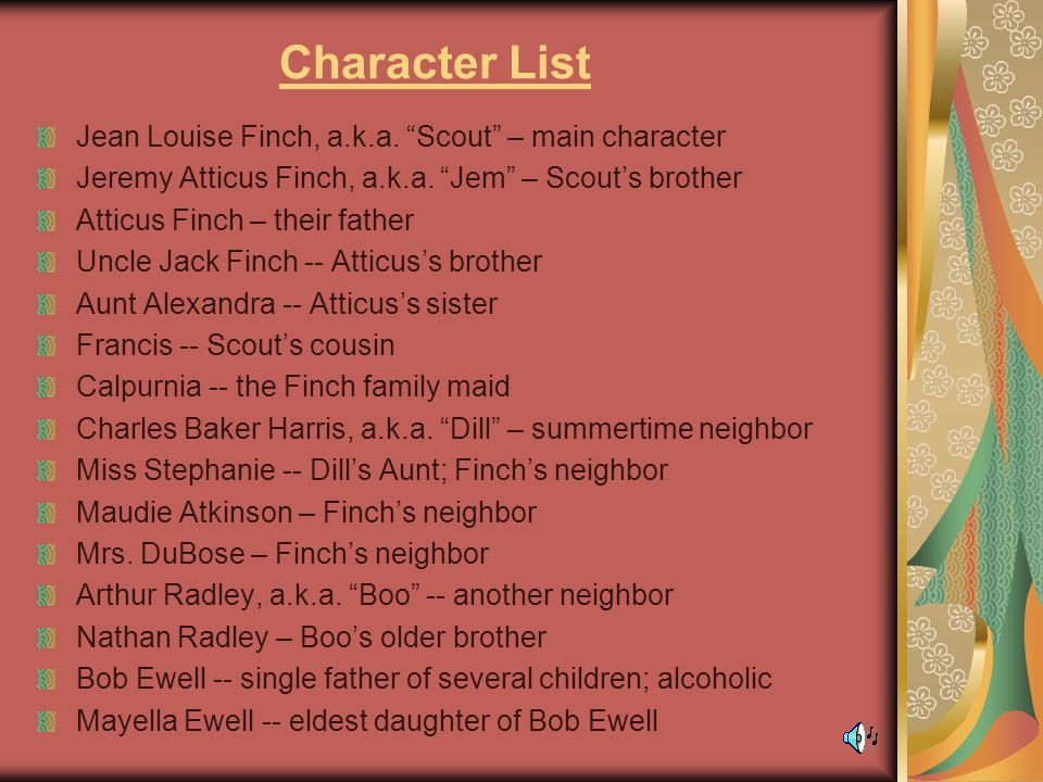 personality traits of scout finch