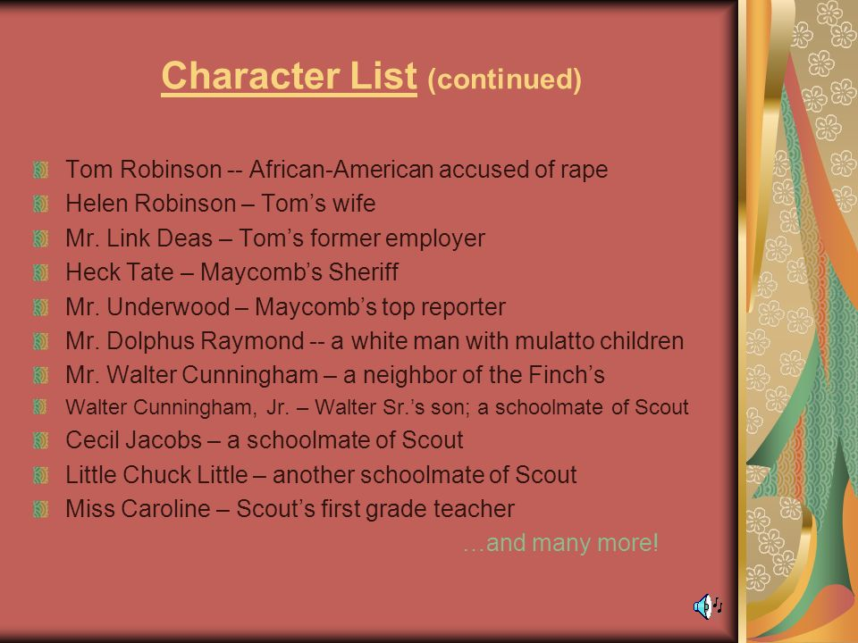 character traits of tom robinson