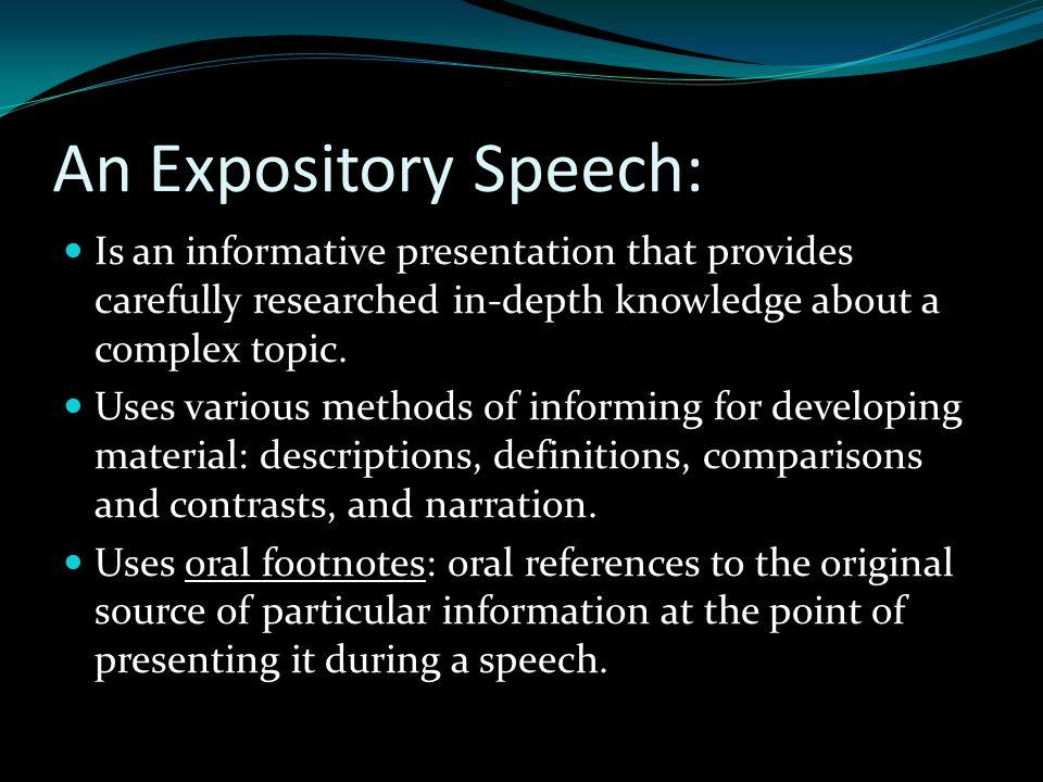 expository speech topics