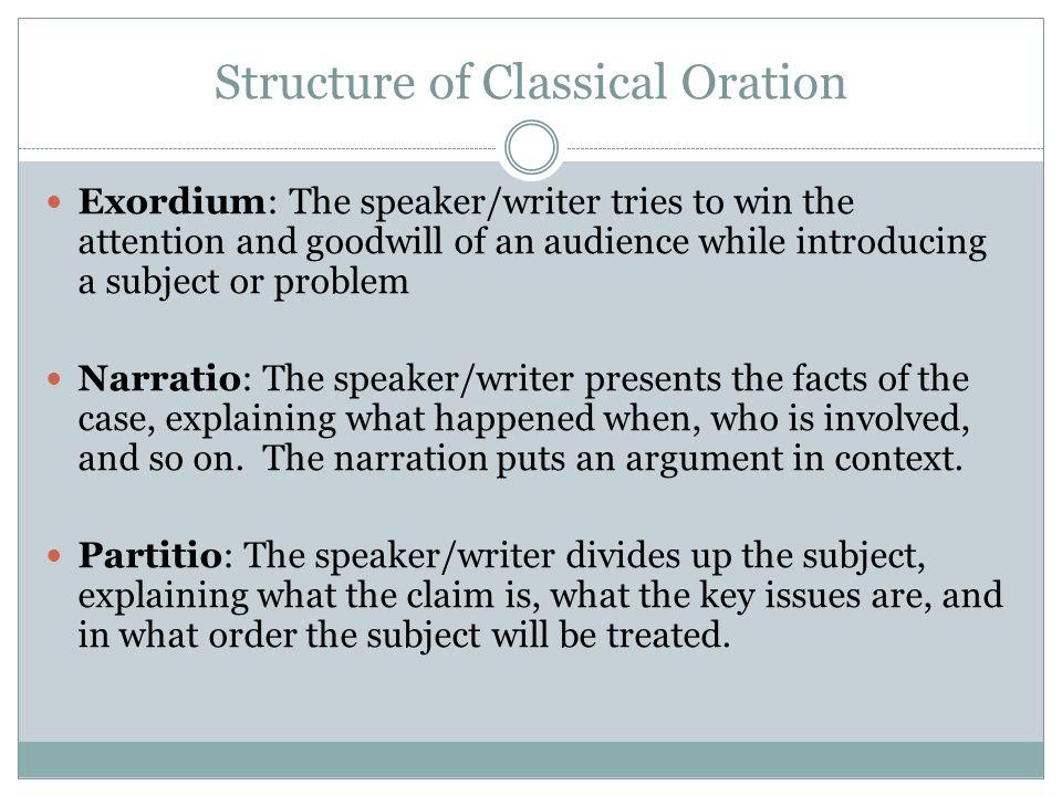 how to write an exordium