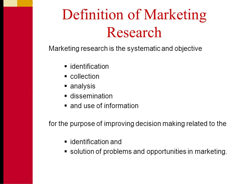 introduction to marketing research chapter 1