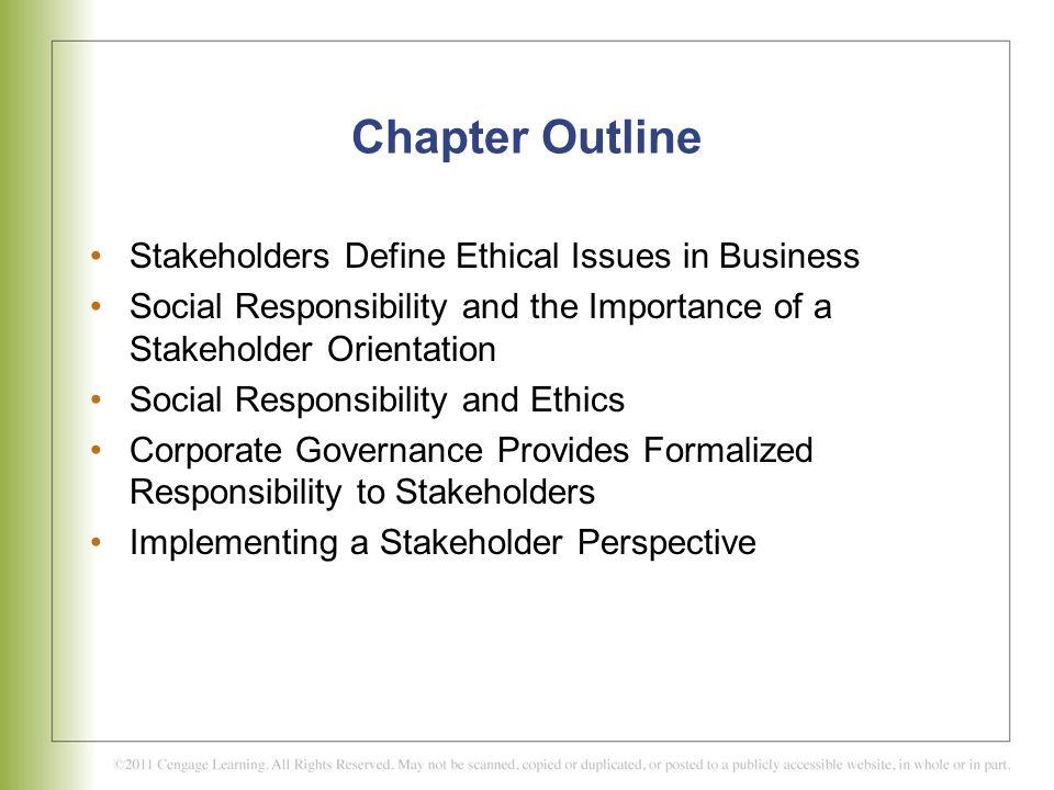 C H A P T E R 2 Stakeholder Relationships, Social