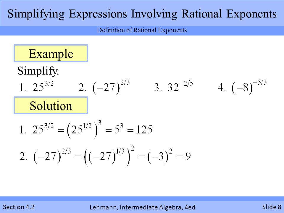 Simplifying algebraic expressions.