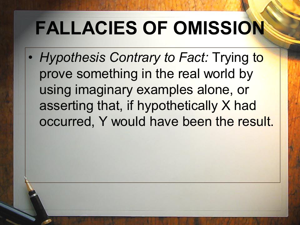 hypothesis contrary to fact definition