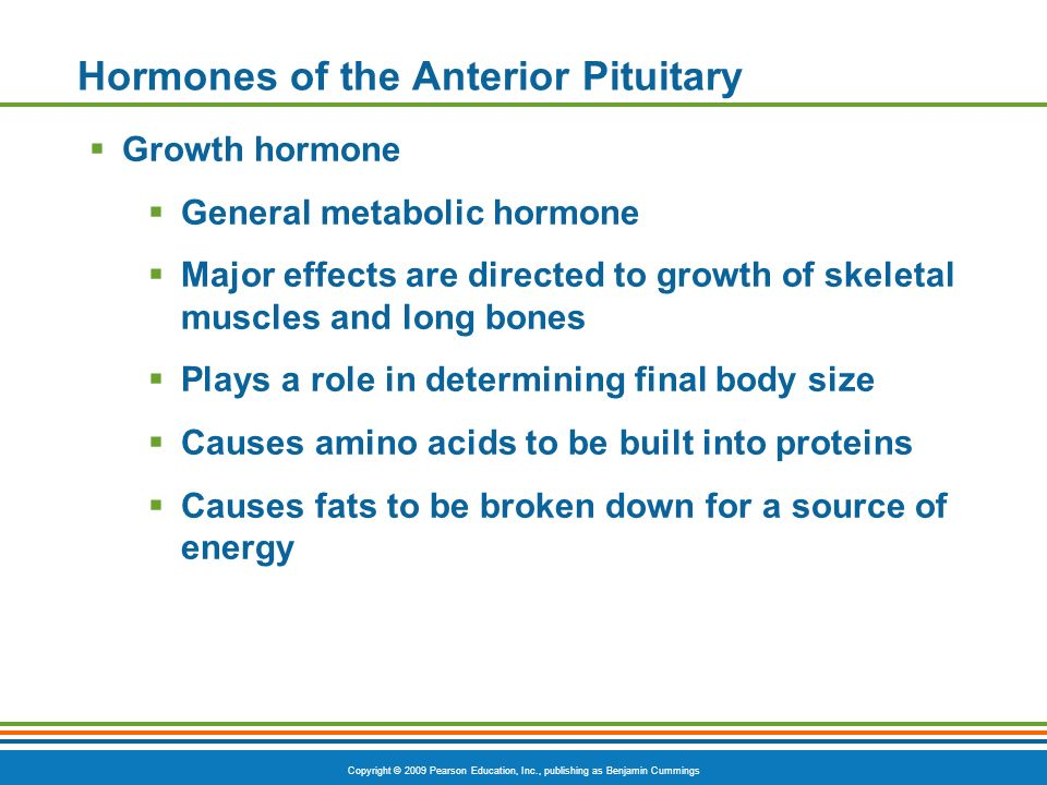 Hormones of the Anterior Pituitary