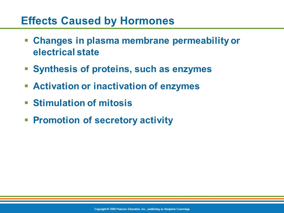 Effects Caused by Hormones