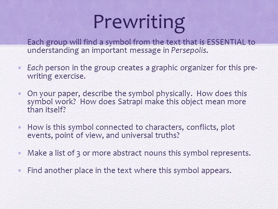 How To Write A Thesis For A Persuasive Essay  Prewriting  Interesting Essay Topics For High School Students also Good High School Essay Topics Persepolis Analytical Analysis Essay  Ppt Video Online Download How To Write A Good Essay For High School