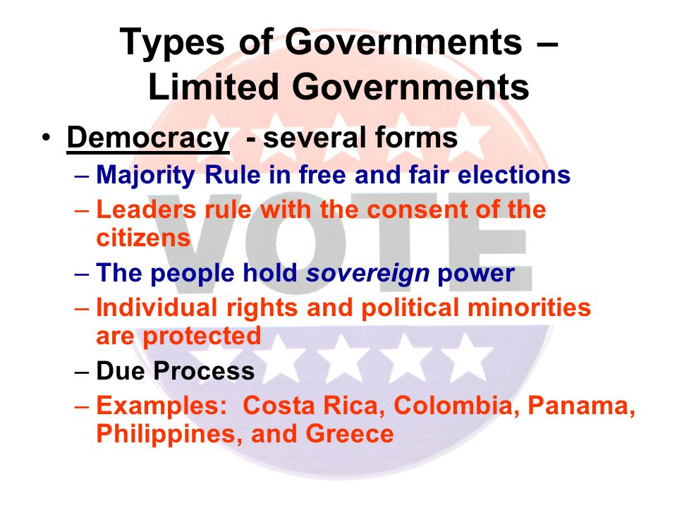 major types of government essay The organization of state and local governments varies widely across the united states they have common specific features, but their organizations differ regardless of their design, state and local governments often have a far greater impact on people's lives than the federal government.