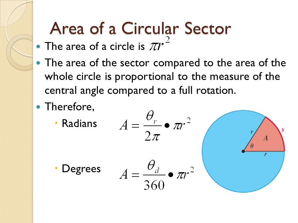 EQ: How do you find an arc length and an area of a circular