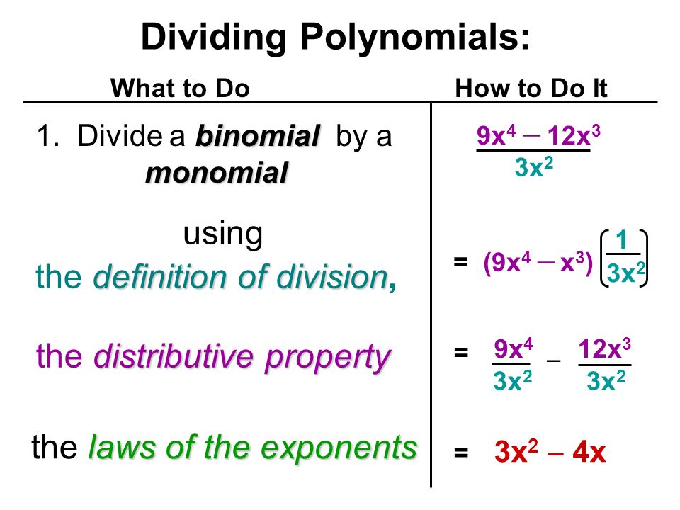 Dividing a Polynomial by a Monomial - ppt video online download