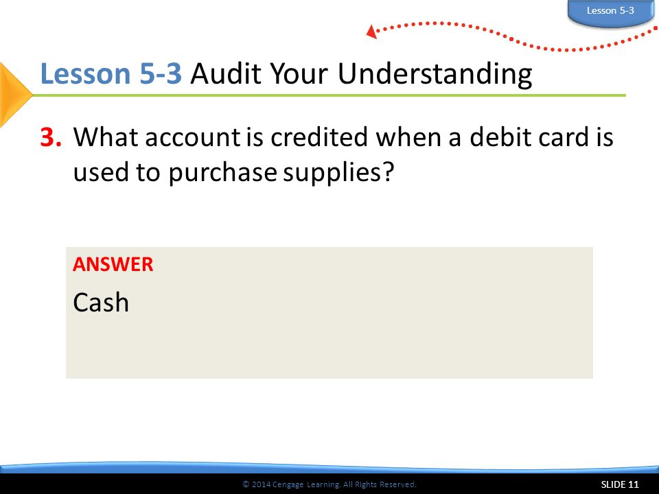 Lesson 5-3 Audit Your Understanding
