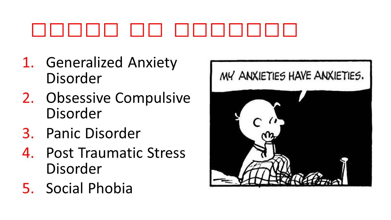 Types of Anxiety Generalized Anxiety Disorder