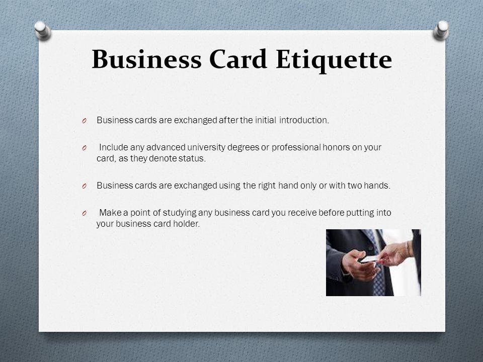 Customs and etiquette for pakistan ppt video online download business card etiquette reheart Images