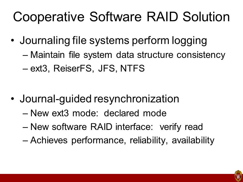 Journal-guided Resynchronization for Software RAID - ppt video