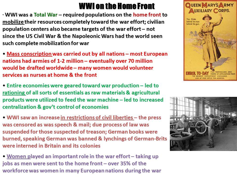 how was world war 1 a total war