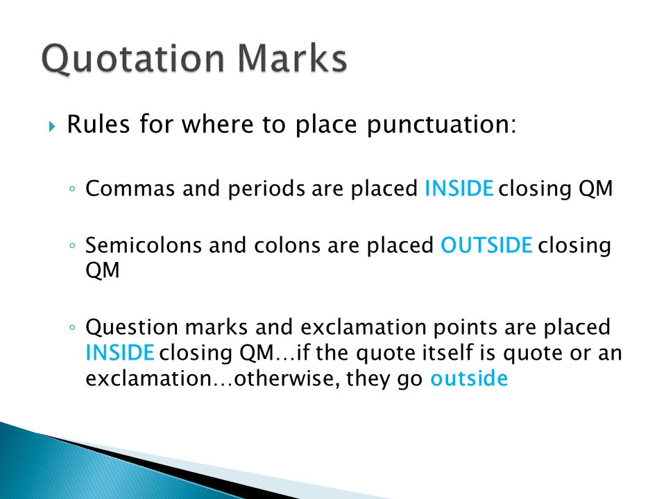 Quotation Marks And Italics Ppt Video Online Download