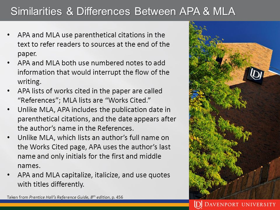 differences of apa and mla