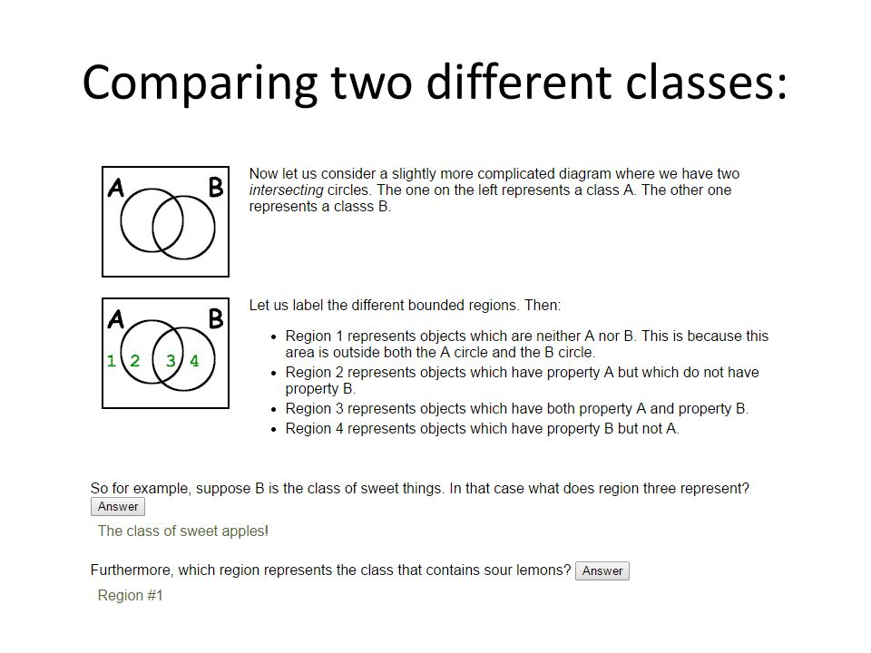 Venn diagrams and categorical syllogisms ppt video online download 5 comparing two different classes ccuart Image collections