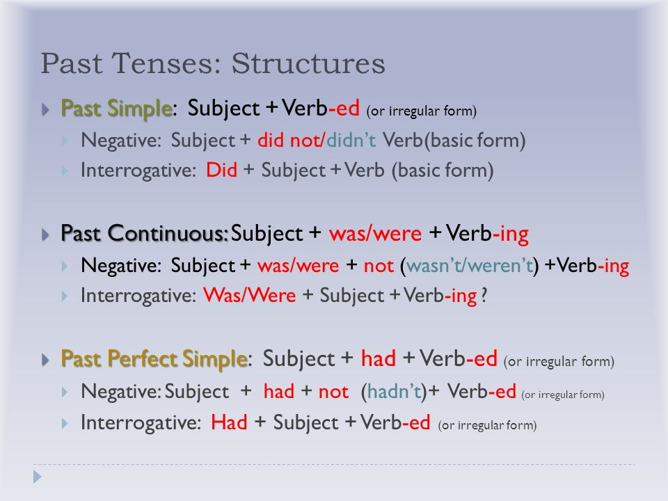 Past Simple, Past Continuous, Past Perfect Simple - ppt download